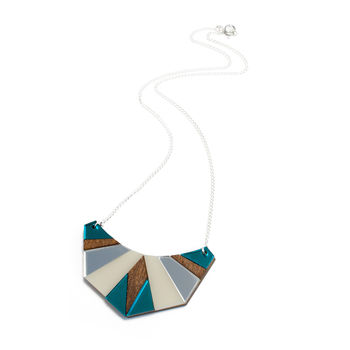 Egyptian Necklace - Teal