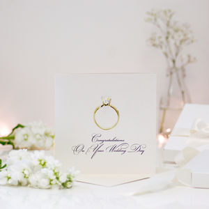Diamond Ring Personalised Wedding Congratulations Card
