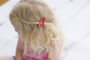 Pair Of Glitter Non Slip Hair Clips - womens