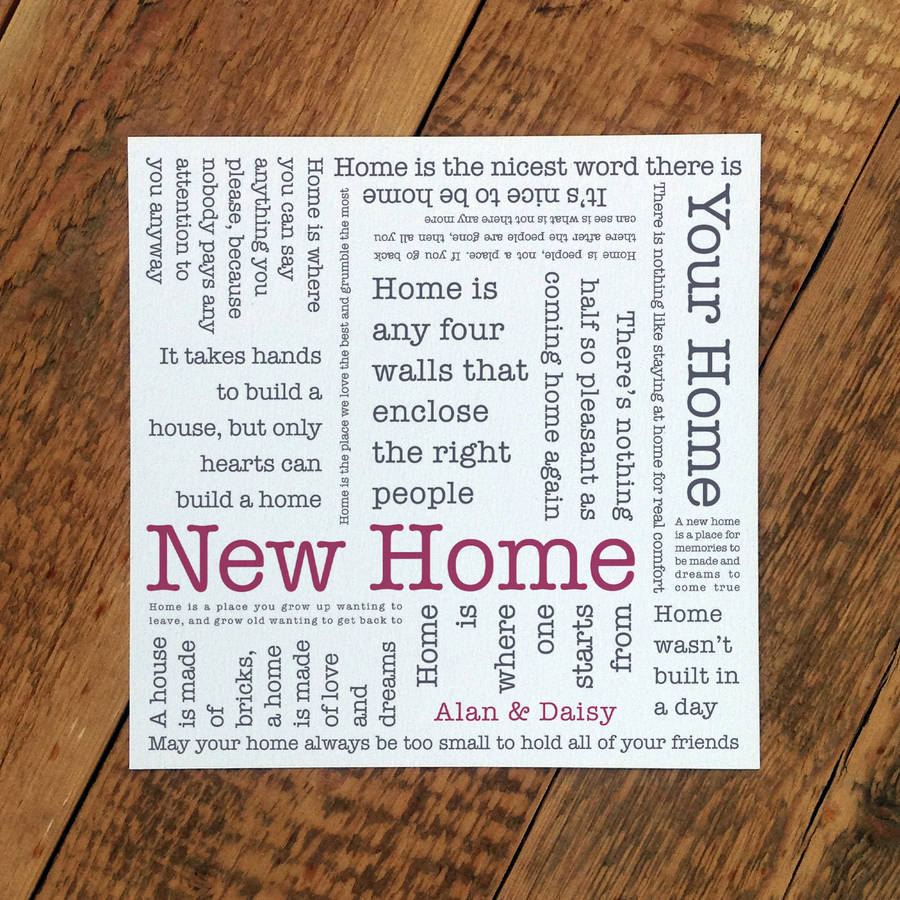 New Home Quotes Amazing New Home Card 'new Home' Quotescoulson Macleod