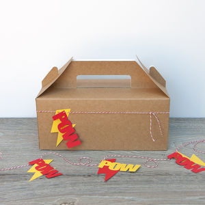 Superhero Party Boxes - wedding day activities