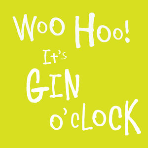 Woo Hoo It's Gin O'clock Card - all purpose cards, postcards & notelets