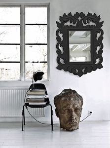 Flocked Baroque Mirror - mirrors