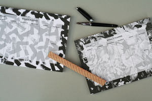 Weekly Planner Pad Monochrome Floral - view all sale items