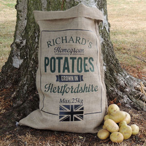 Personalised Hessian Vegetable Sack - shop by price