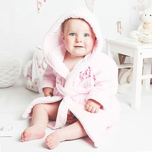 Pink Royal Baby Dressing Gown - soft furnishings & accessories