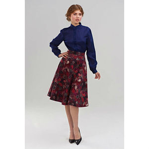 Scarlet A Silhouette Floral Print Skirt
