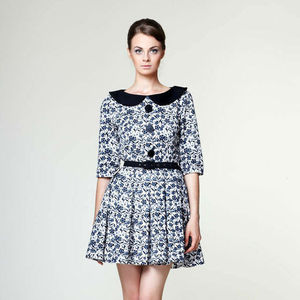 Anouk Mini Dress With Peter Pan Collar - women's fashion