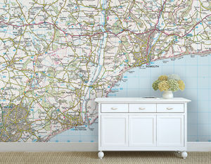 Custom Map Wallpaper Ordnance Survey Landranger - home decorating