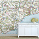 Personalised Map Wallpaper Ordnance Survey Landranger