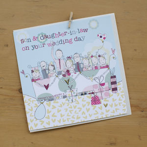 Son And Daughter In Law Wedding Or Anniversary Card - wedding cards