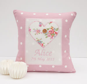 Personalised Girls Christening Gift - cushions