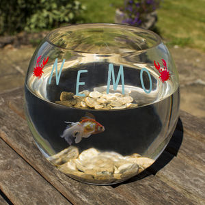 Personalised Fish Bowl - small animals & wildlife