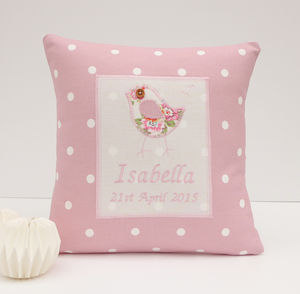 Personalised Little Bird Cushion - decorative accessories