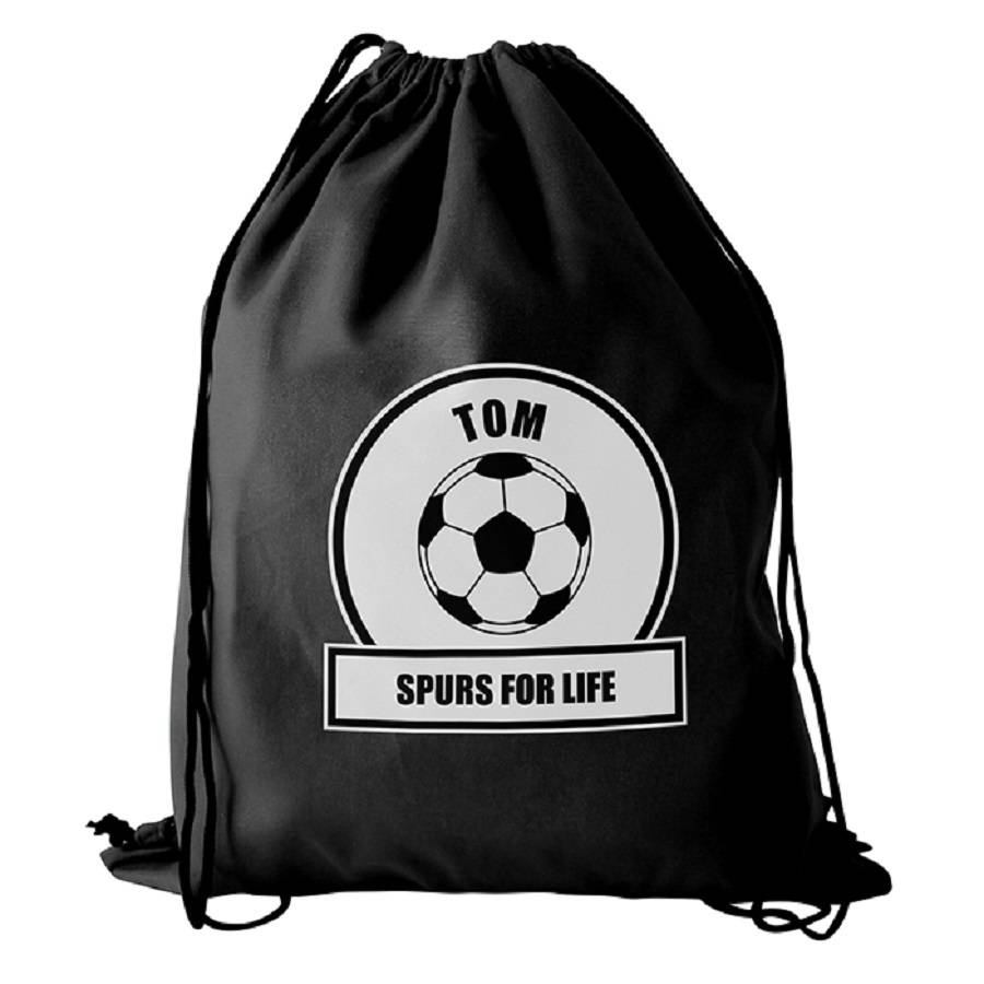 127cf819cb84 personalised black football gym kit bag by sassy bloom as seen on tv ...
