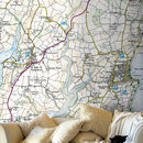 Personalised Map Wallpaper Ordnance Survey Explorer