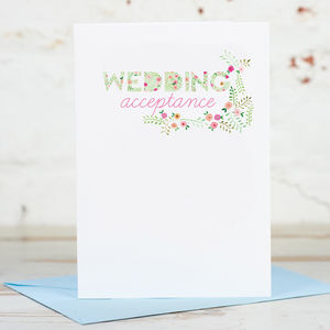 Wedding Acceptance RSVP Card