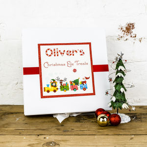 Personalised Santa's Train Christmas Eve Surprise Box - christmas eve