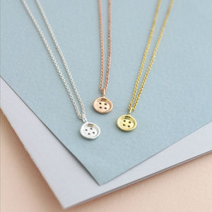 Mini Button Necklace