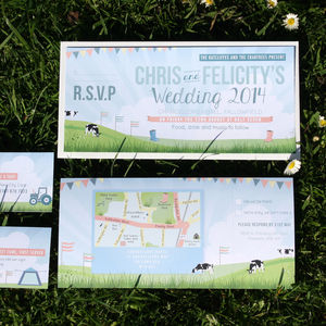 Festival Themed Wedding Invitation Bundle - invitations