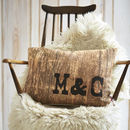 Personalised 'Wood' Cushion