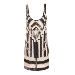 30% Off Aztec Flapper Embellished Dress - best dressed guest