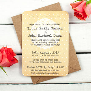 Lace Evening Invite - shop by price