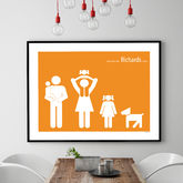 Personalised Family Poster - black friday sale