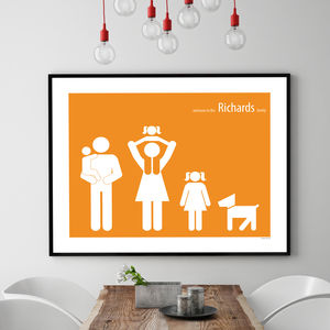 Personalised Family Poster - canvas prints & art for children