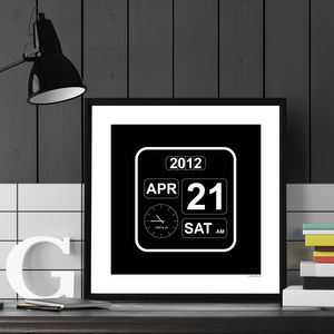 Personalised Special Occasion Clock Poster - new baby keepsakes