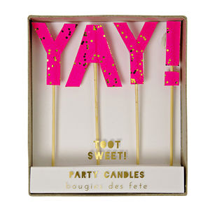 Yay Candles - cake toppers & decorations