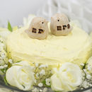 Mr And Mrs Lovebird Wedding Cake Toppers