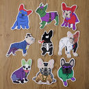 Frenchie Super Villains Sticker Pack