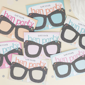 Hen Party Card Glasses Personalised - hen party gifts & styling