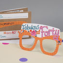 40th Birthday Card Glasses For Her