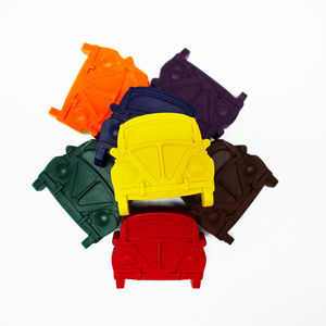 Set Of Eight Retro Bug Car Crayons