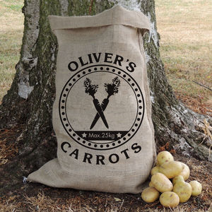 Personalised Motif Hessian Vegetable Sack