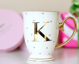 Spotty China Letter Mug - birthday gifts