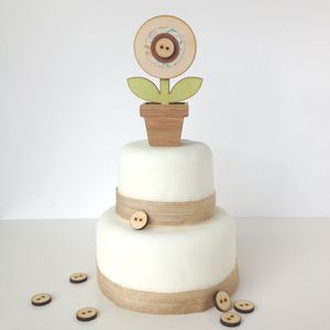 Wooden Rose Wedding Cake Topper - cake toppers & decorations