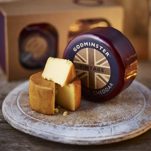 Boxed Round Vintage Organic Cheddar - christmas entertaining