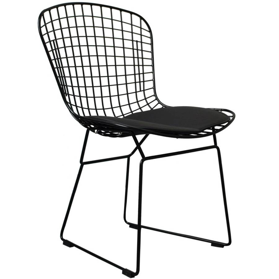A black metal dining chair also in silver or white by for Metal design chair