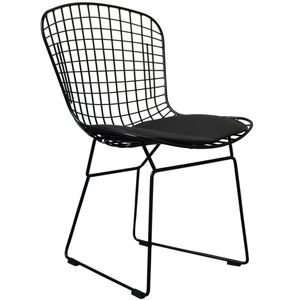 'Black Or White Metal Dining Chair - kitchen