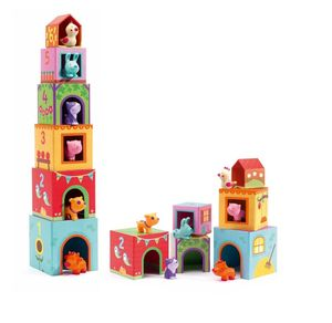 Stacking And Nesting Blocks With Animals - board games & puzzles