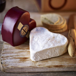 Heart Shaped Brie And Cheddar Gift Box - gifts for her