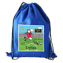 Personalised Bang On The Door Football Kit / Swim Bag