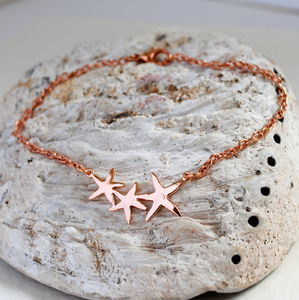 Bright Stars Rose Gold Anklet