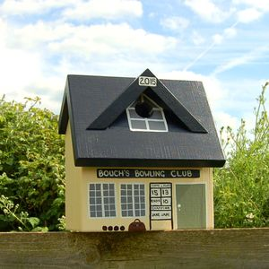 Personalised Bowls Club Bird Box