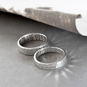 Sterling Silver Secret Message Ring - men's jewellery