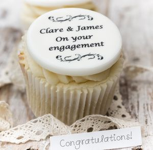 Engagement Cupcake Toppers - cakes & sweet treats