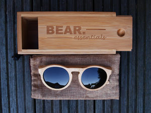 Handcrafted Bamboo Circular Wooden Sunglasses - sunglasses